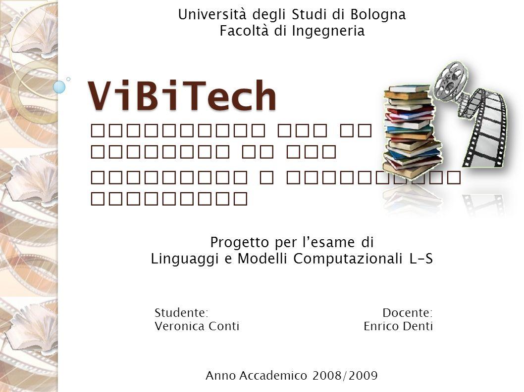 Linguaggio per la gestione di una videoteca e biblioteca domestica