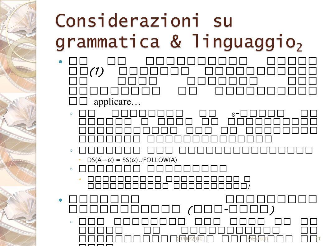 Considerazioni su grammatica & linguaggio2