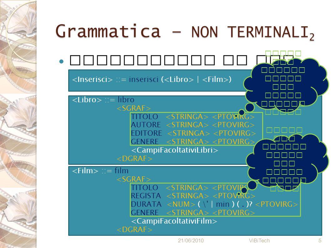 Grammatica – NON TERMINALI2