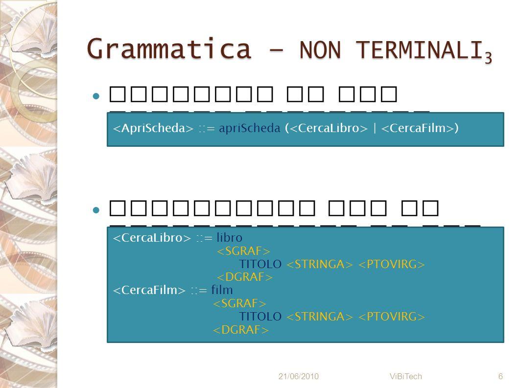 Grammatica – NON TERMINALI3