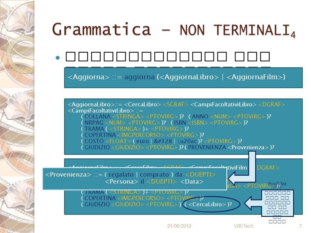 Grammatica – NON TERMINALI4