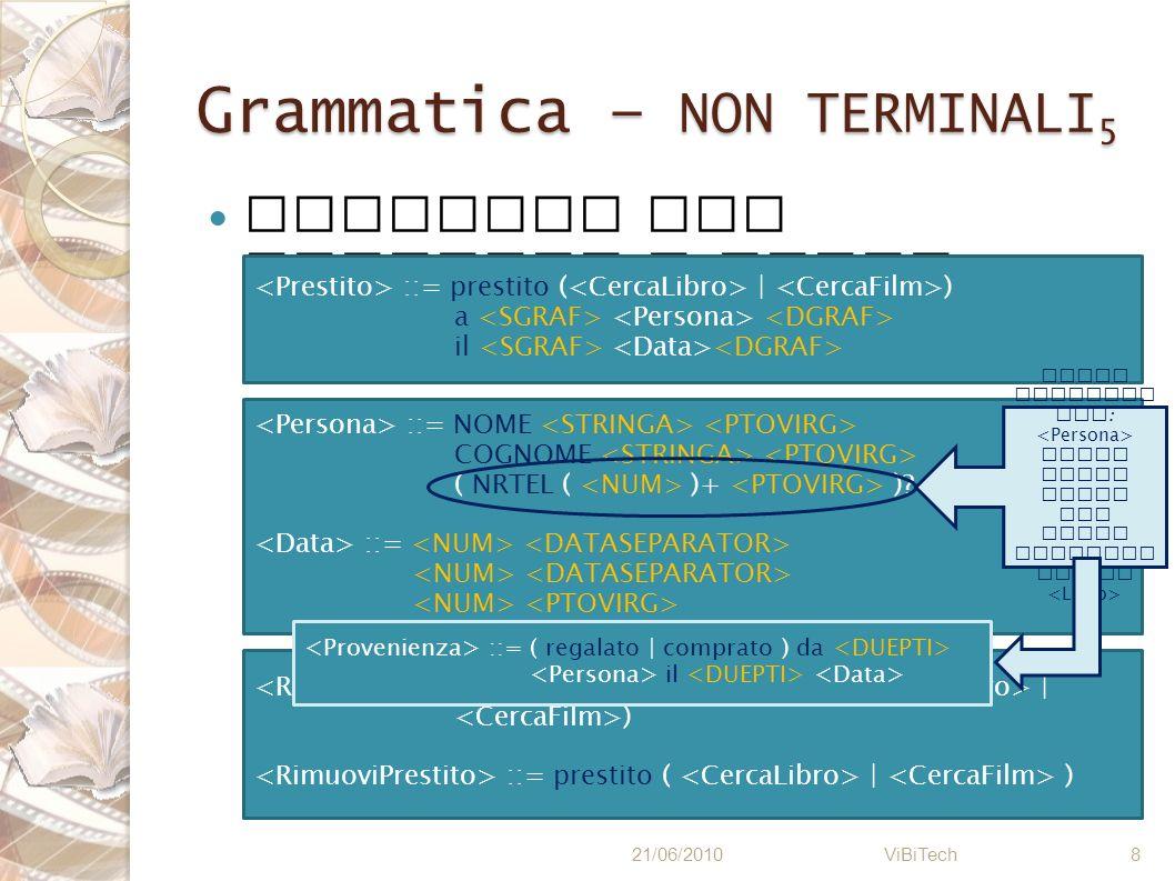 Grammatica – NON TERMINALI5