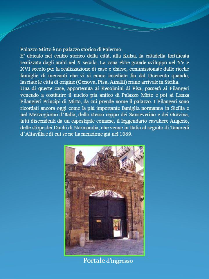 Portale d'ingresso Palazzo Mirto è un palazzo storico di Palermo.
