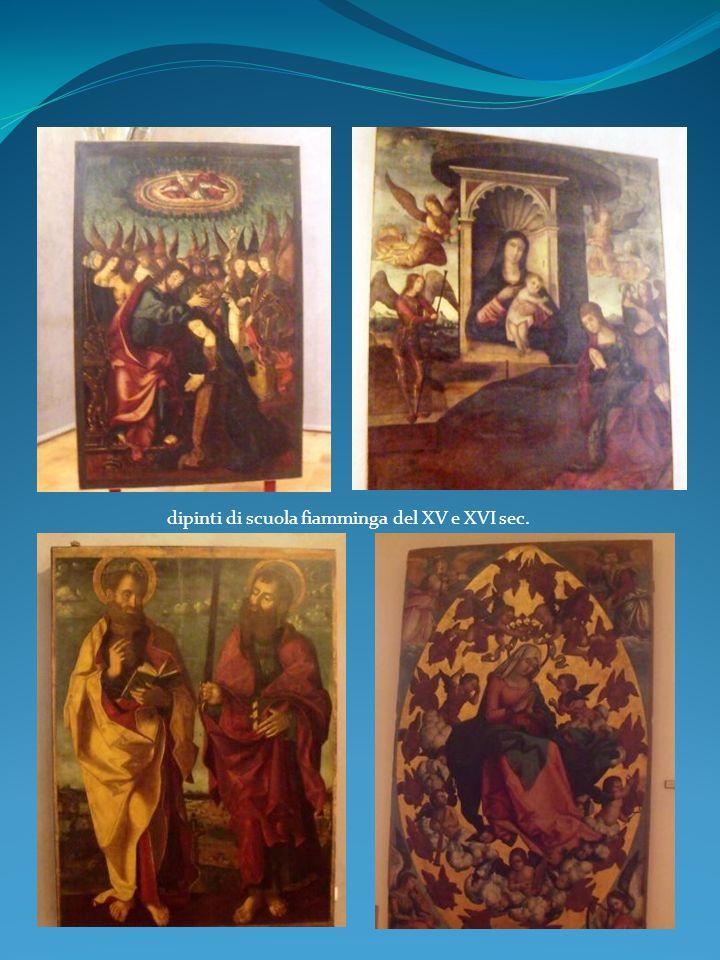 dipinti di scuola fiamminga del XV e XVI sec.