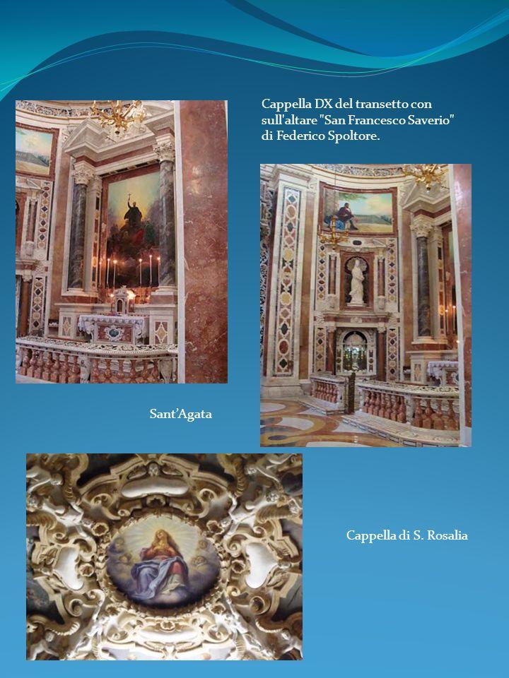 Cappella DX del transetto con sull altare San Francesco Saverio di Federico Spoltore.