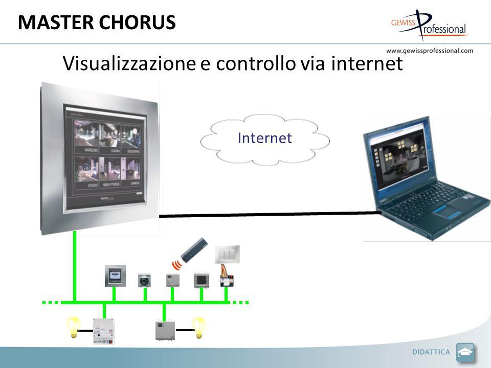 Visualizzazione e controllo via internet