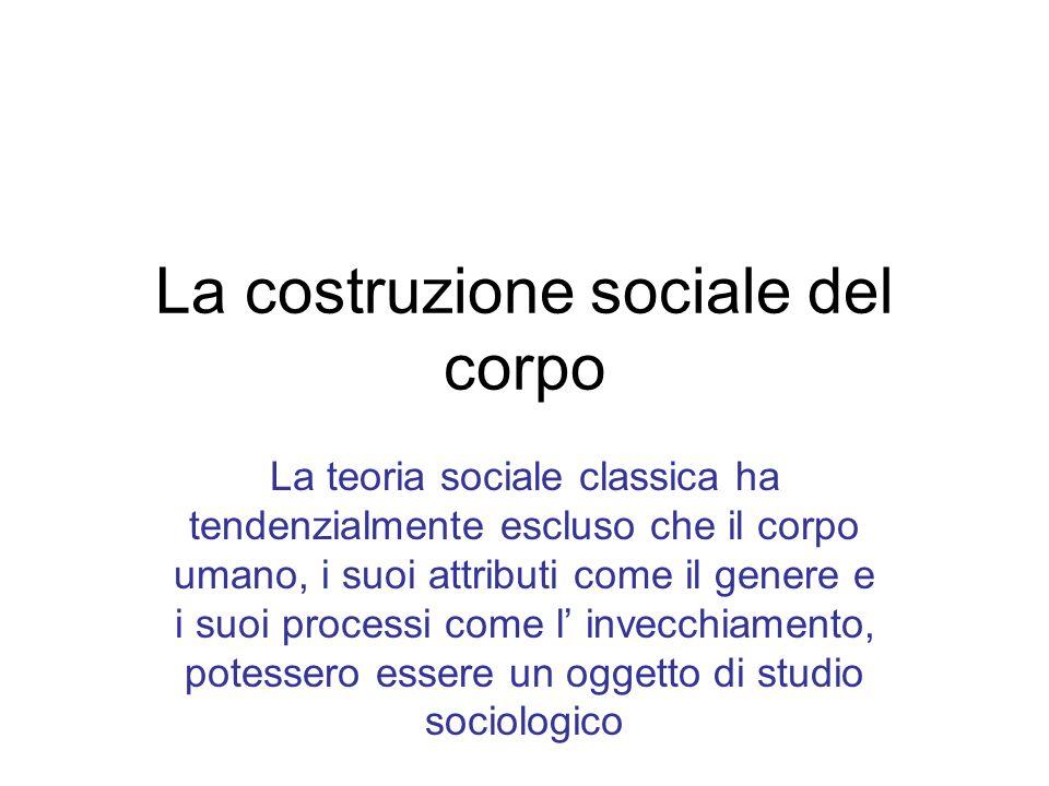 La costruzione sociale del corpo