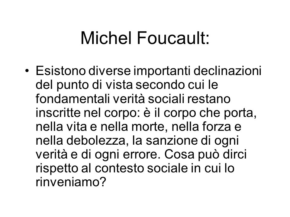Michel Foucault:
