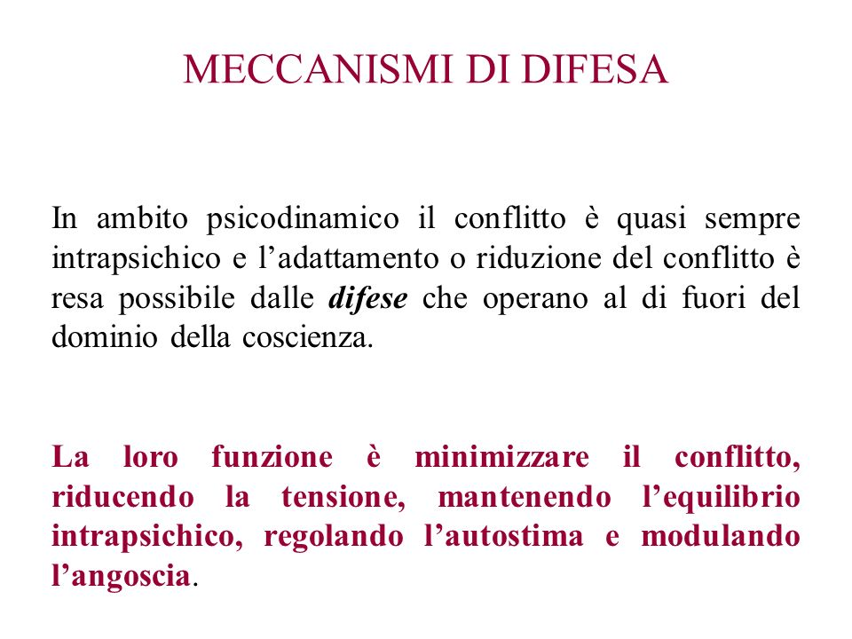 MECCANISMI DI DIFESA