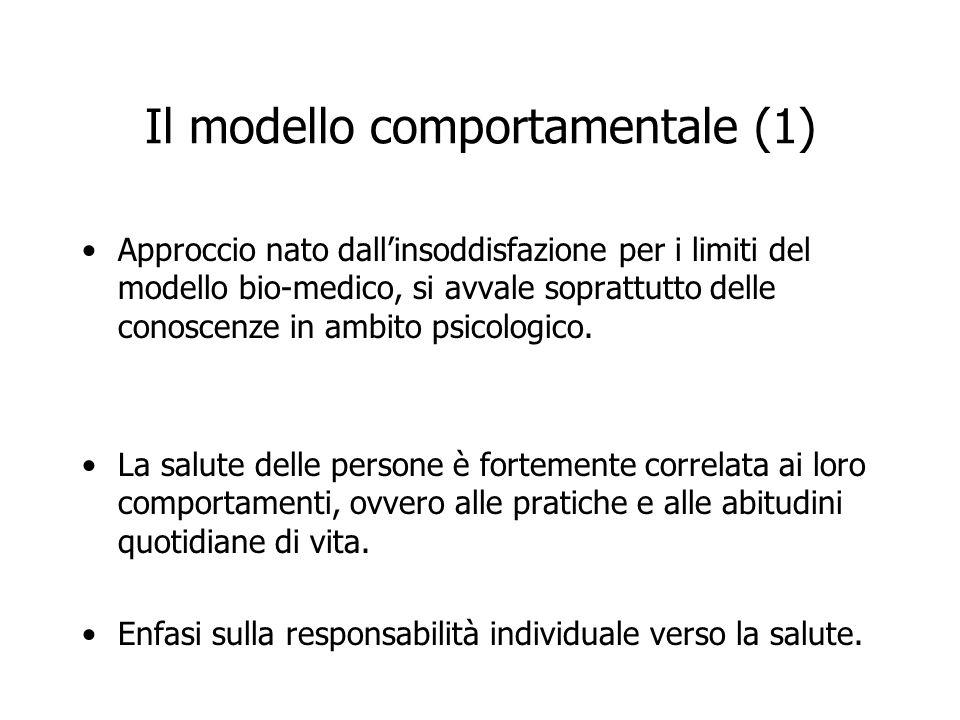 Il modello comportamentale (1)