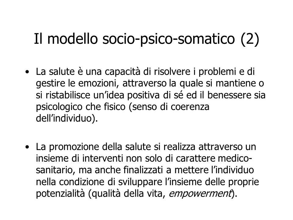 Il modello socio-psico-somatico (2)
