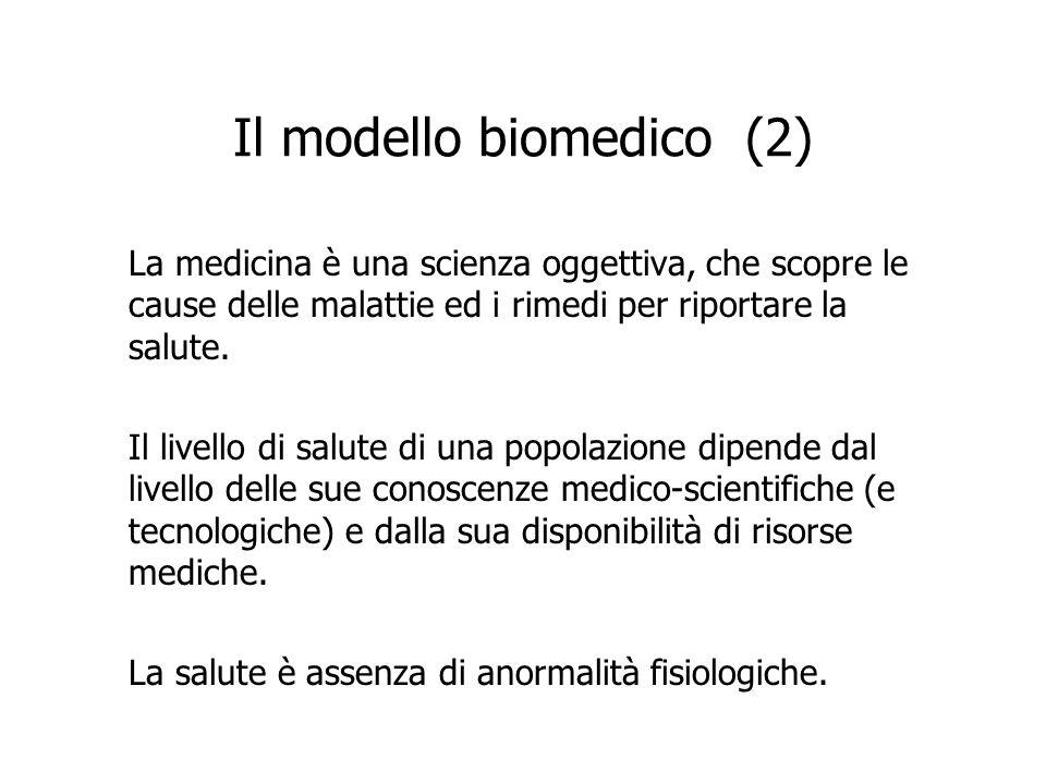 Il modello biomedico (2)