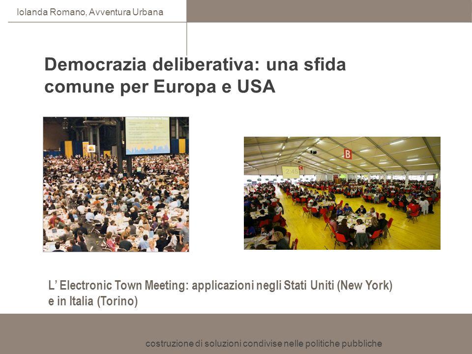 Democrazia deliberativa: una sfida comune per Europa e USA