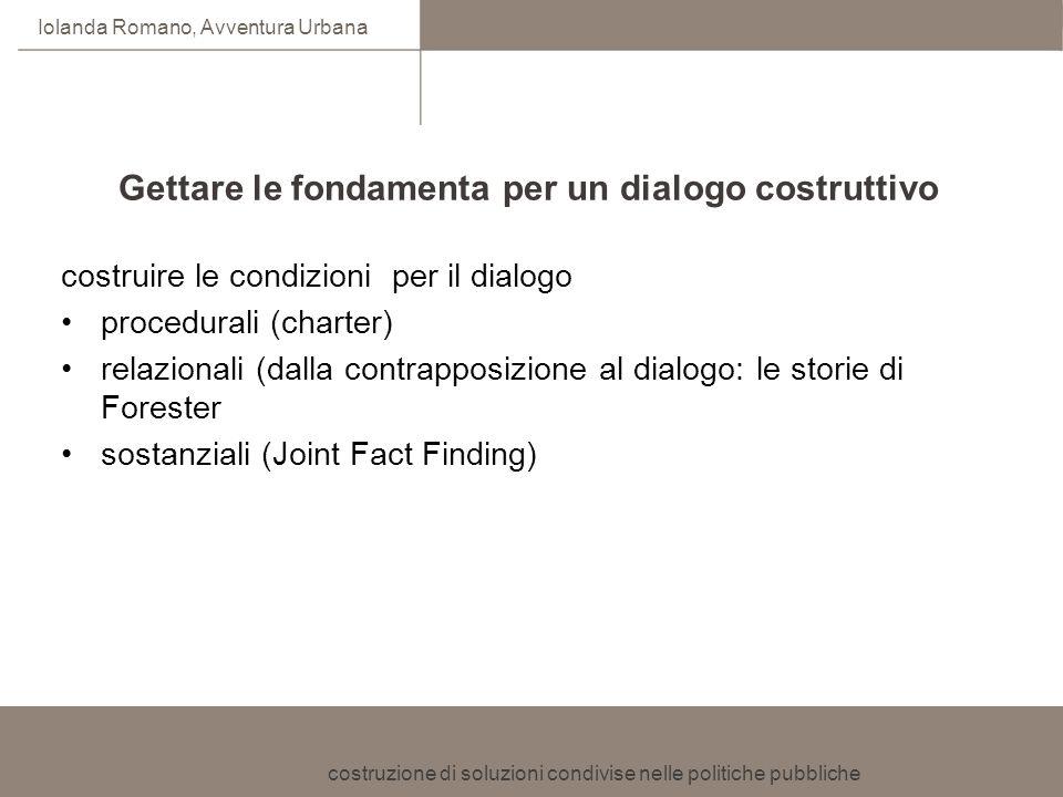 Gettare le fondamenta per un dialogo costruttivo