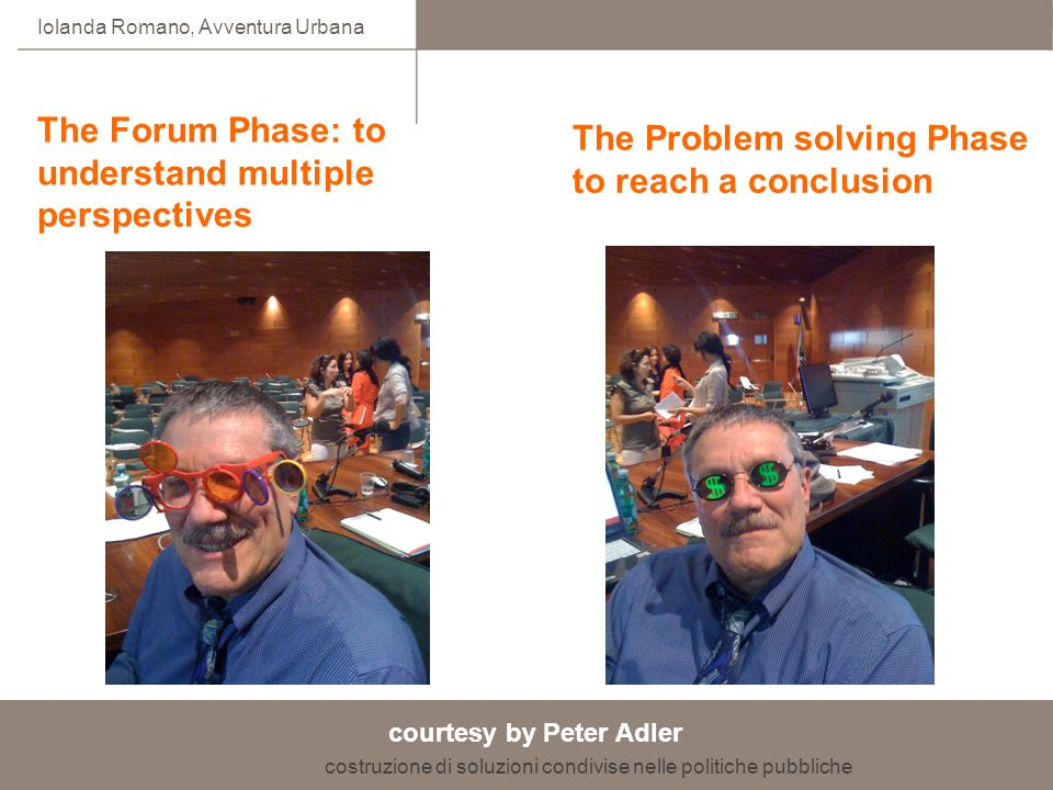 The Forum Phase: to understand multiple perspectives
