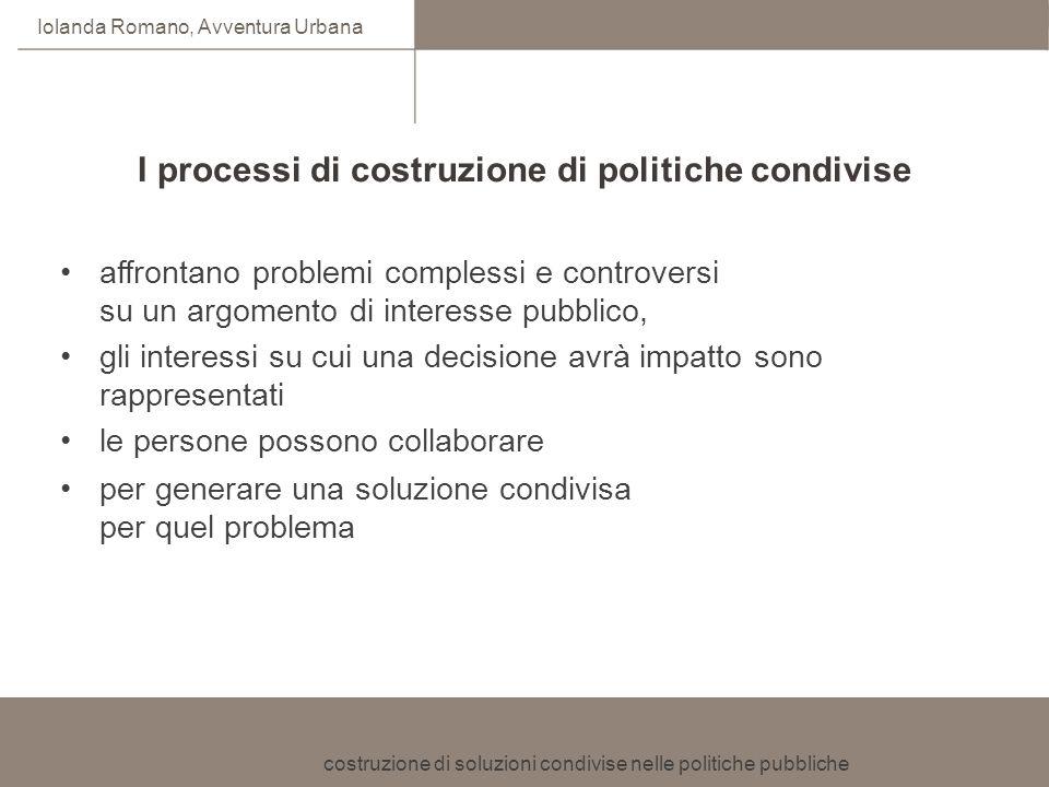 I processi di costruzione di politiche condivise