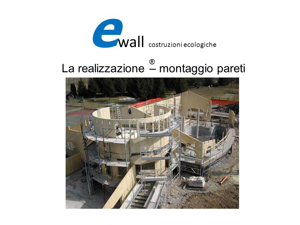 La realizzazione – montaggio pareti
