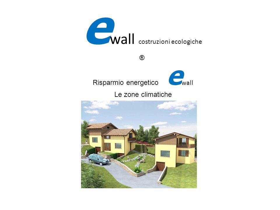 fifi Risparmio energetico ewall Le zone climatiche