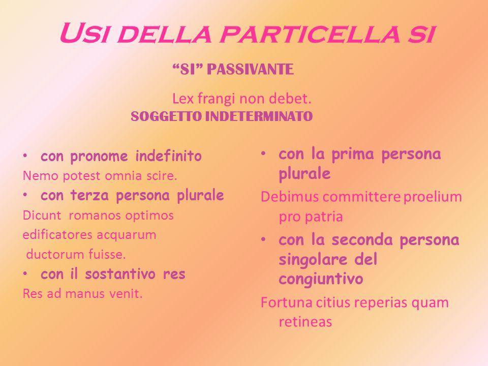 Usi della particella si