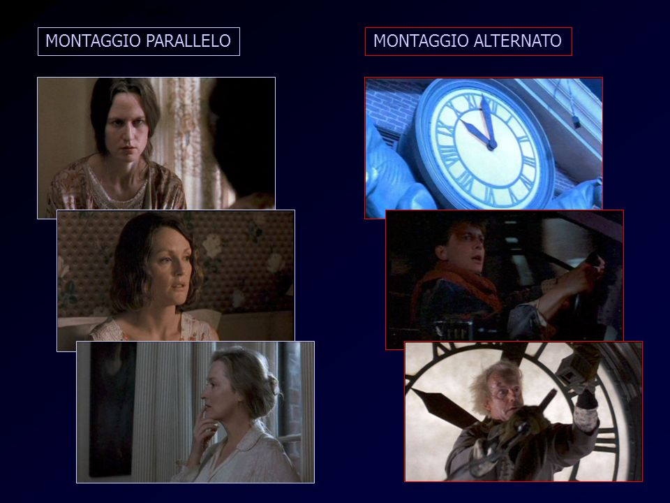Alternato e Parallelo MONTAGGIO PARALLELO MONTAGGIO ALTERNATO