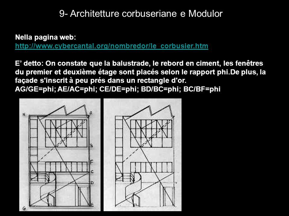 9- Architetture corbuseriane e Modulor