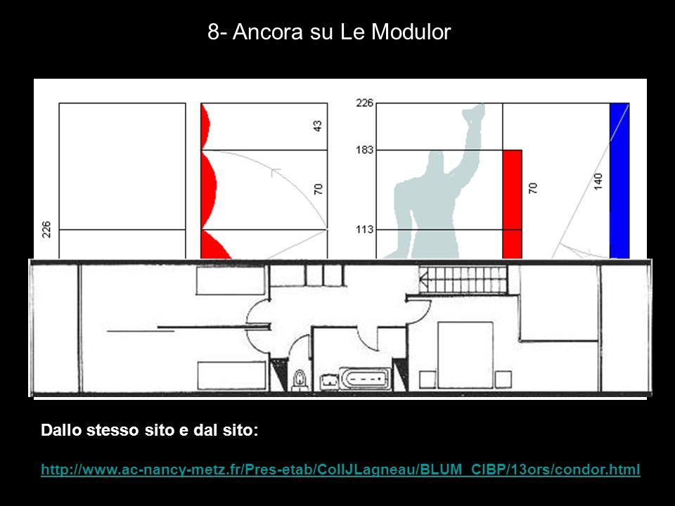 8- Ancora su Le Modulor Dallo stesso sito e dal sito:
