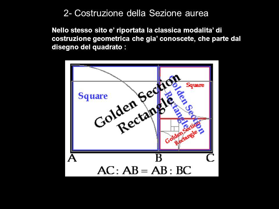 2- Costruzione della Sezione aurea