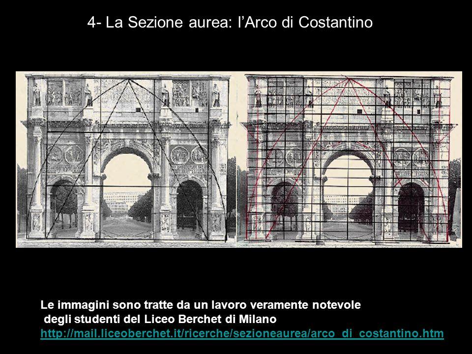4- La Sezione aurea: l'Arco di Costantino