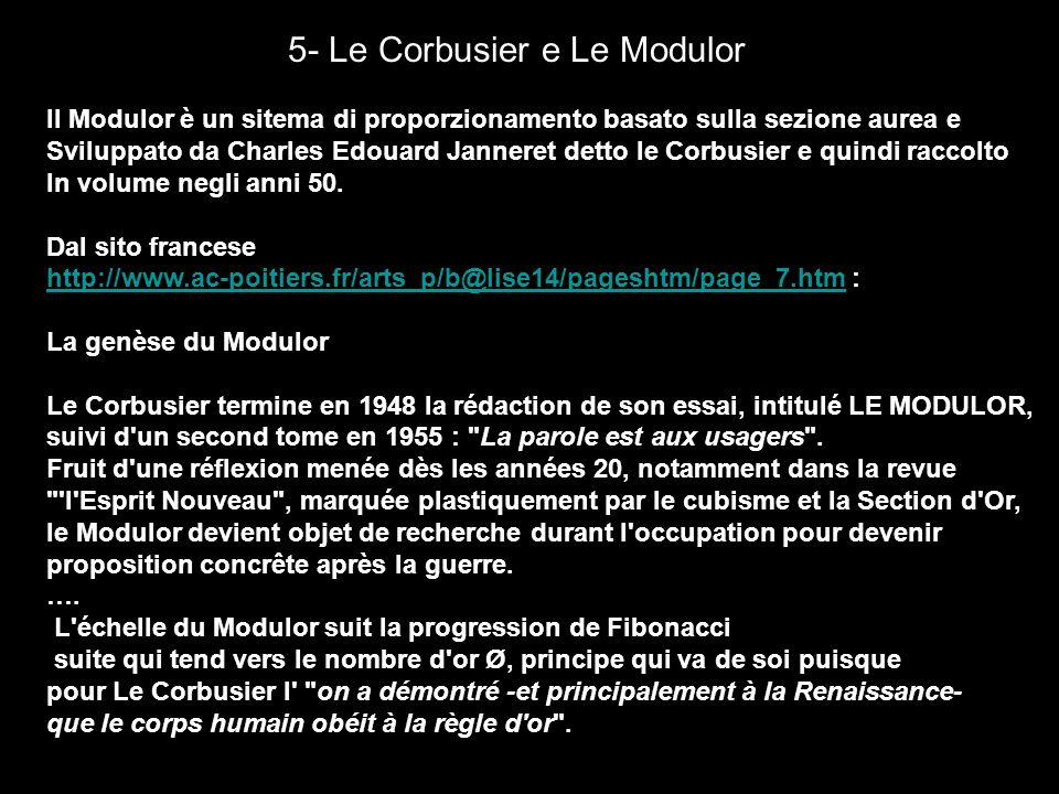 5- Le Corbusier e Le Modulor
