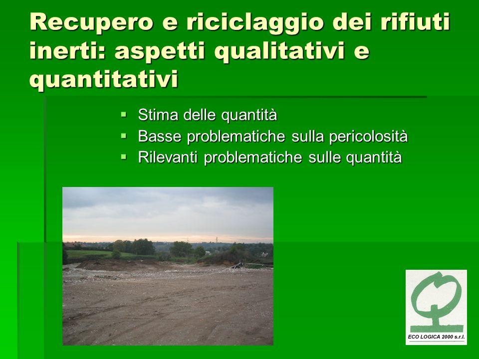 Recupero e riciclaggio dei rifiuti inerti: aspetti qualitativi e quantitativi