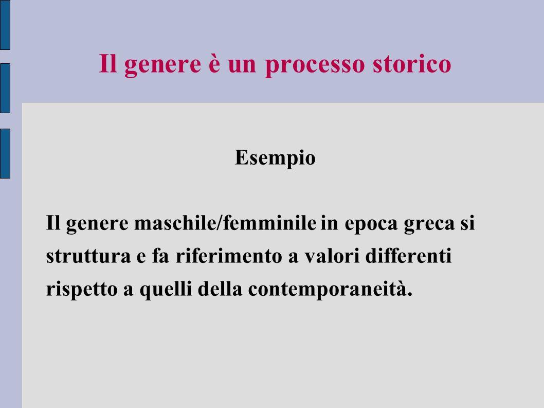 Il genere è un processo storico