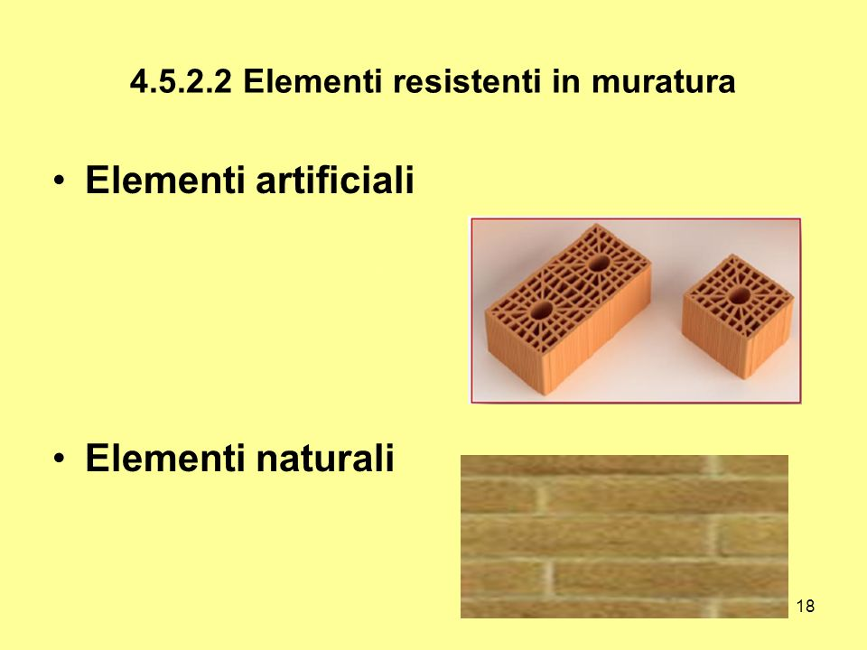 4.5.2.2 Elementi resistenti in muratura