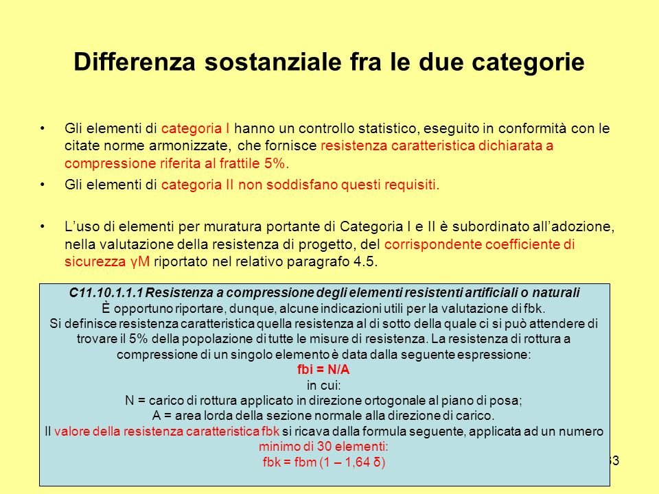 Differenza sostanziale fra le due categorie