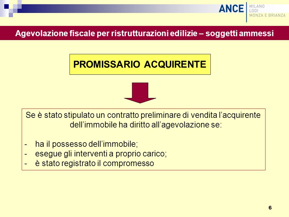 PROMISSARIO ACQUIRENTE