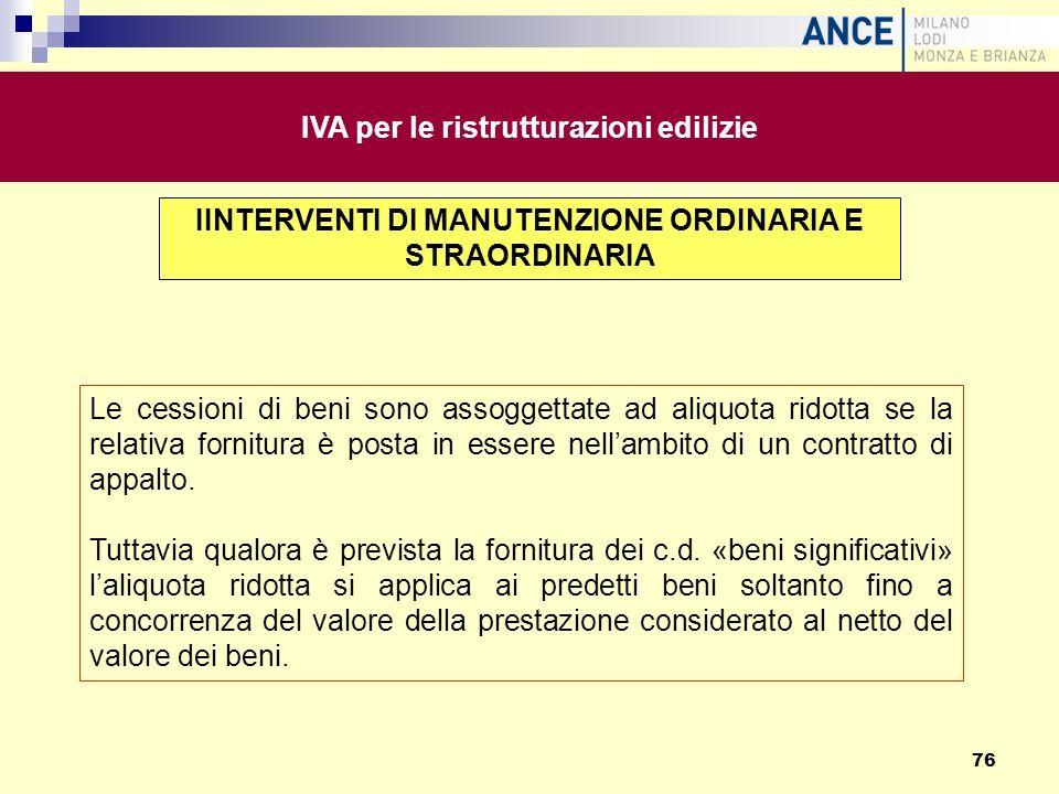 IVA per le ristrutturazioni edilizie