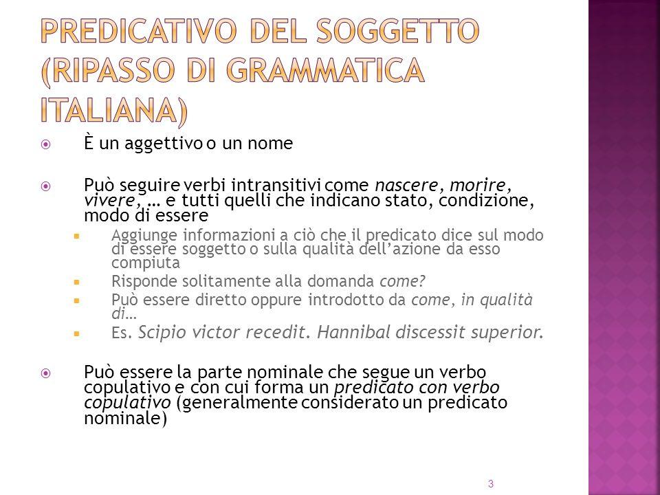 Predicativo del soggetto (ripasso di grammatica italiana)