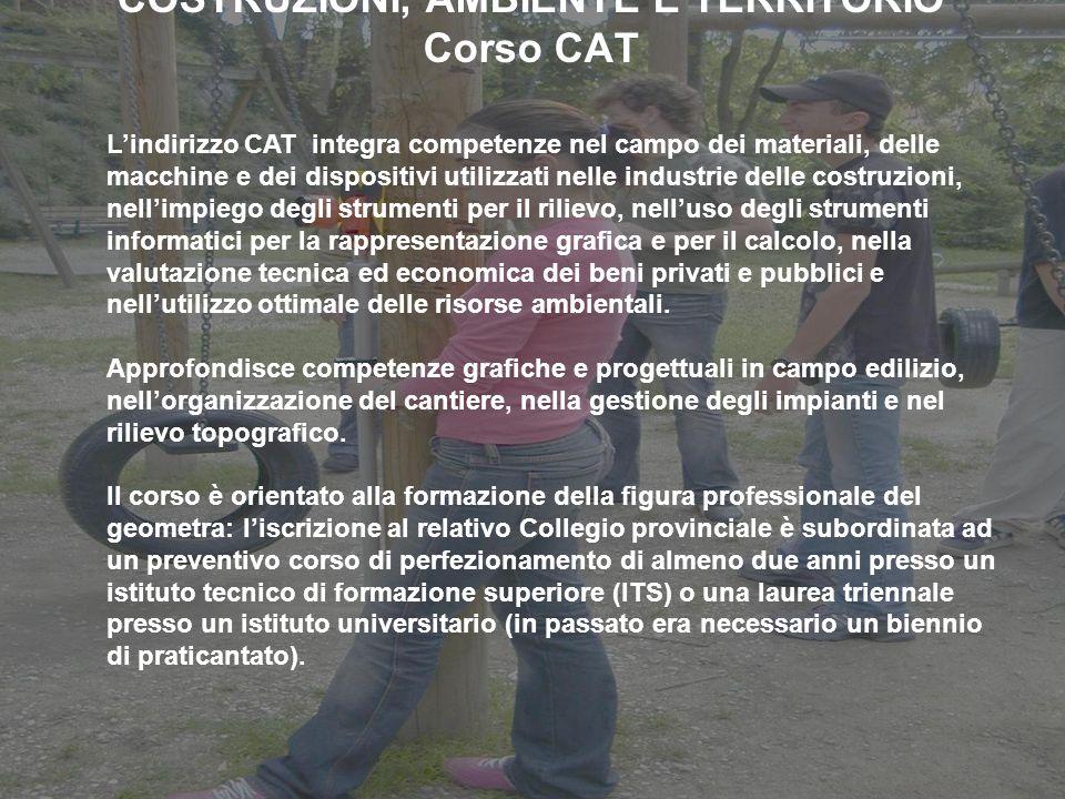 COSTRUZIONI, AMBIENTE E TERRITORIO Corso CAT