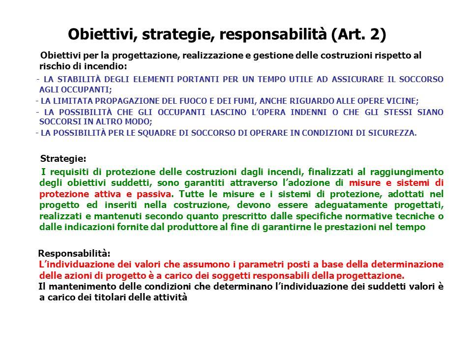 Obiettivi, strategie, responsabilità (Art. 2)