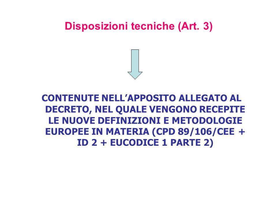 Disposizioni tecniche (Art. 3)