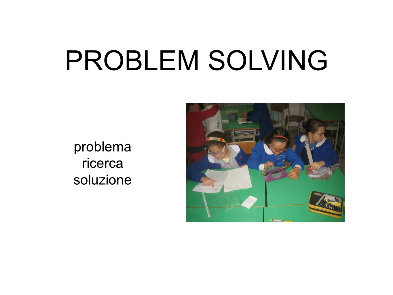 PROBLEM SOLVING problema ricerca soluzione