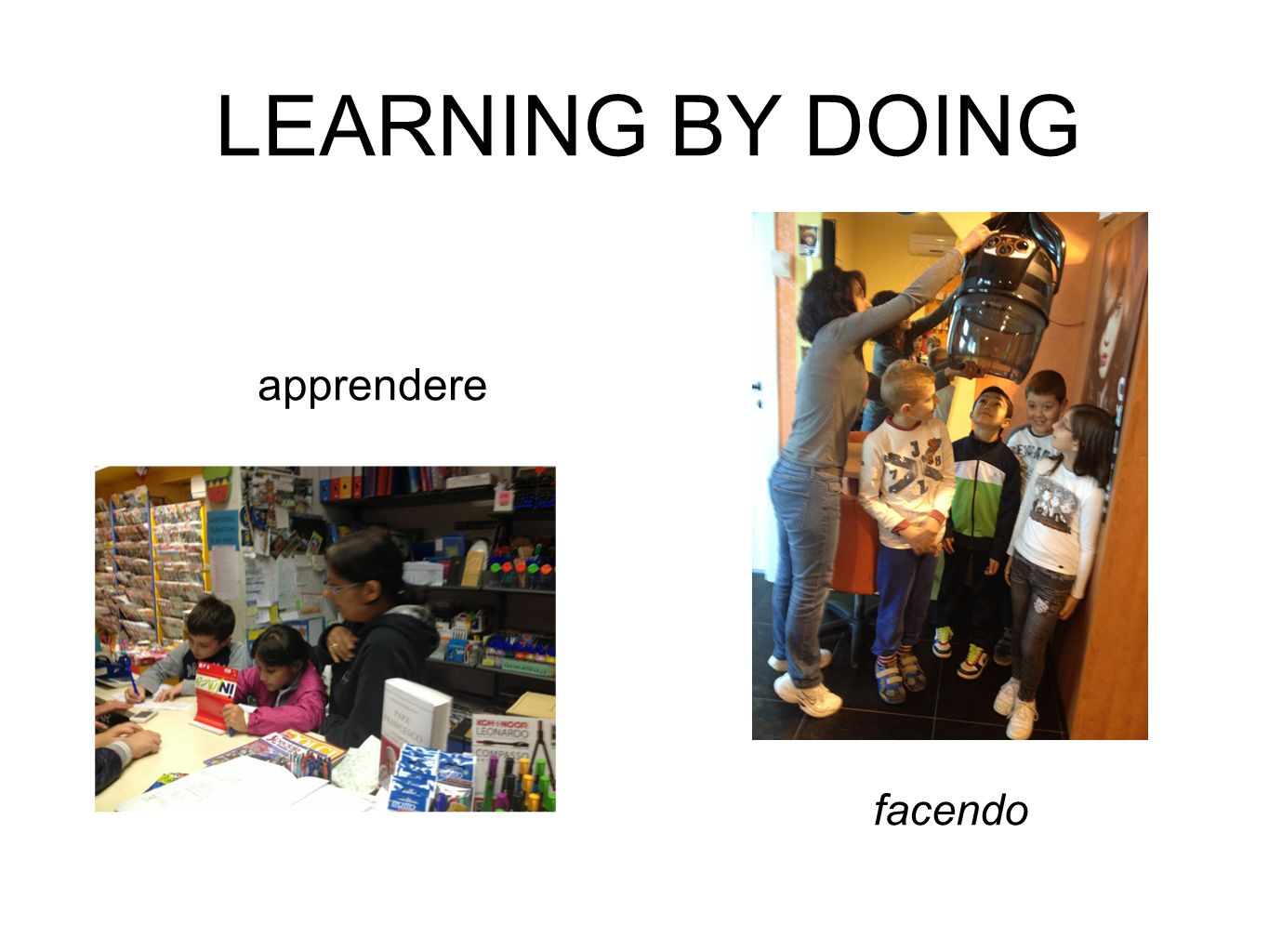 LEARNING BY DOING apprendere facendo