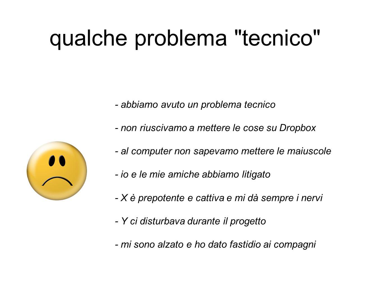 qualche problema tecnico