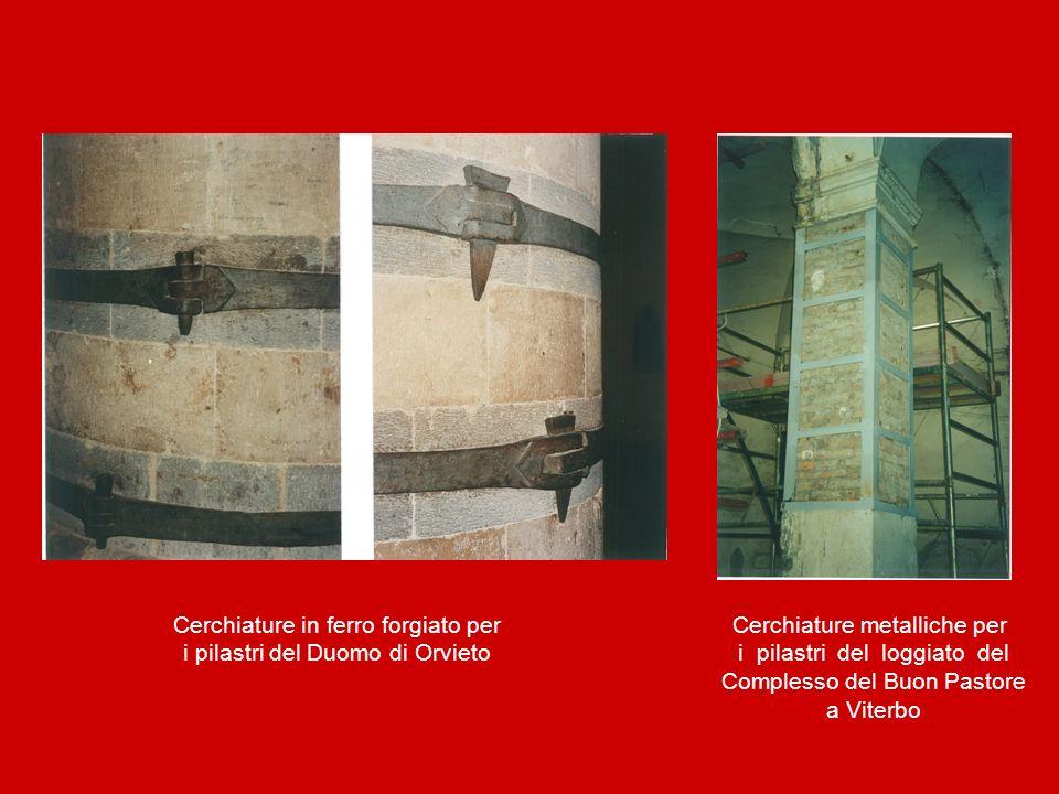 Cerchiature in ferro forgiato per i pilastri del Duomo di Orvieto