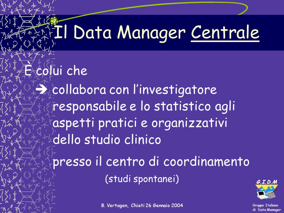 Il Data Manager Centrale