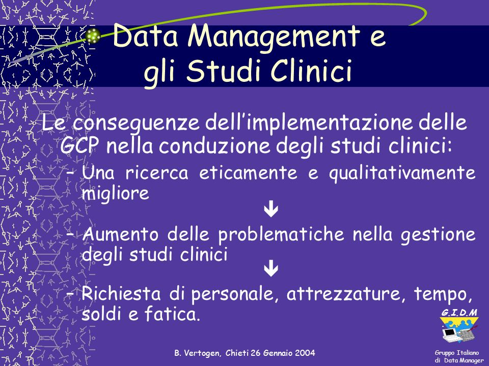 Data Management e gli Studi Clinici