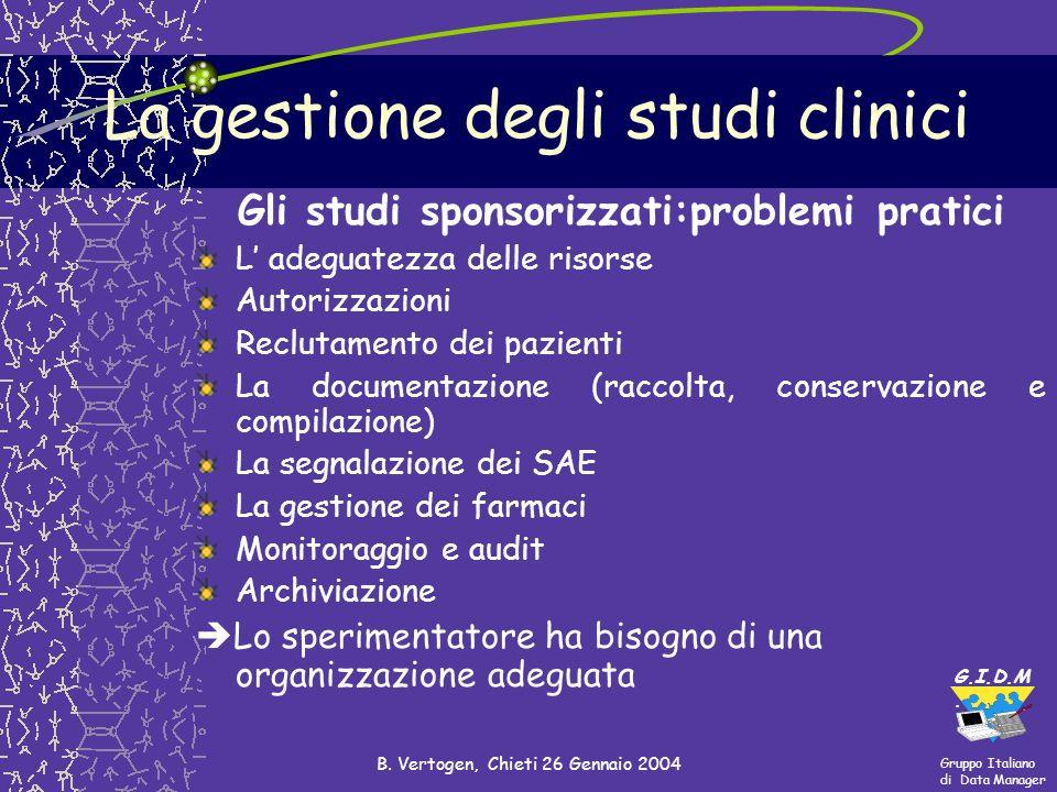 La gestione degli studi clinici