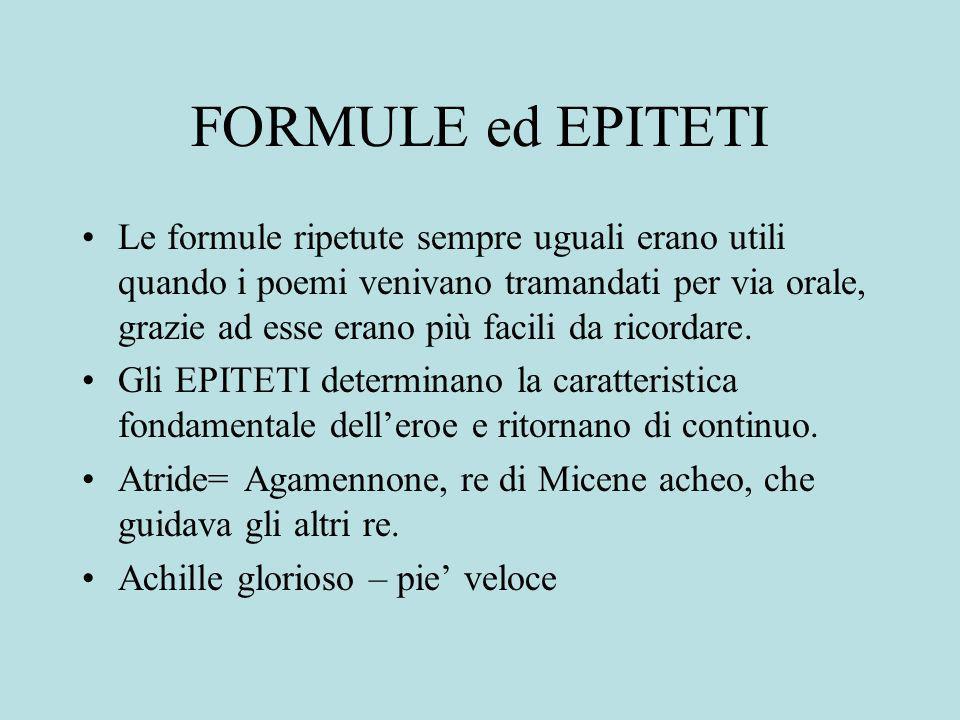 FORMULE ed EPITETI