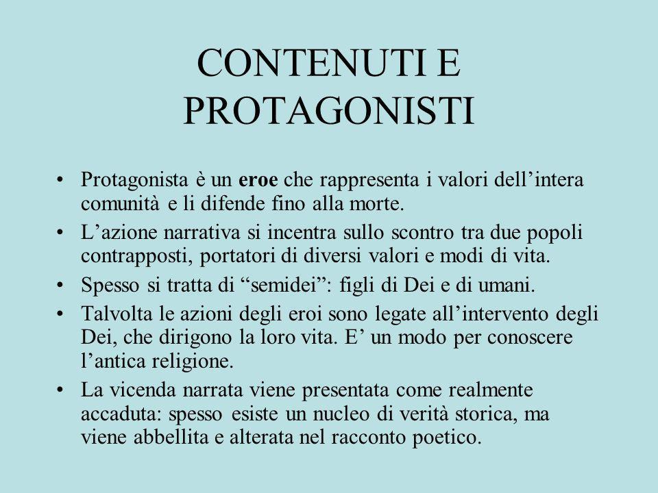 CONTENUTI E PROTAGONISTI
