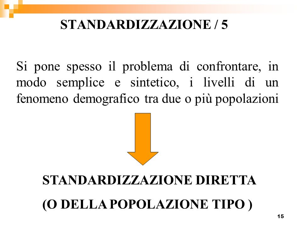 STANDARDIZZAZIONE / 5