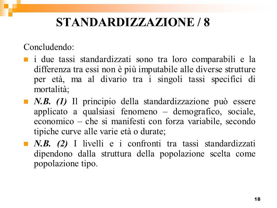 STANDARDIZZAZIONE / 8 Concludendo: